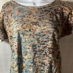 Maurices Size L Multi Pattern Brown Top